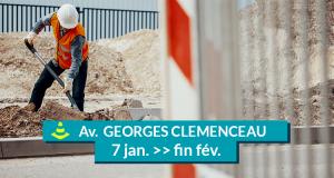 travaux avenue georges clemenceau